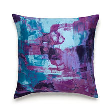 Amy Sia Midnight Storm Oceans Print Square Decorative Pillow