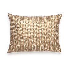 Amy Sia Midnight Storm Gold Sequin Decorative Pillow