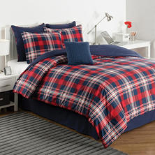 IZOD Brisbane Plaid Comforter Set