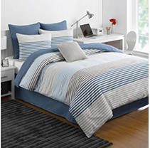 Click here for IZOD 1C11051 Chambray Stripe Full Comforter Set prices
