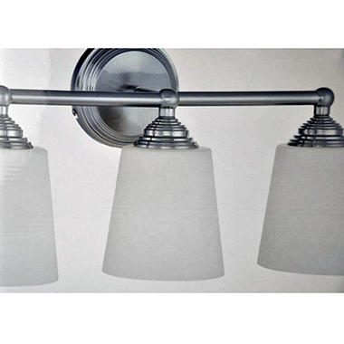 AS 3-LIGHT BATH BAR BRUSHED NICKEL