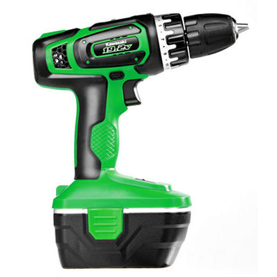 Kawasaki 19.2V 2 Speed Compact Cordless Drill Set with Quick Charger