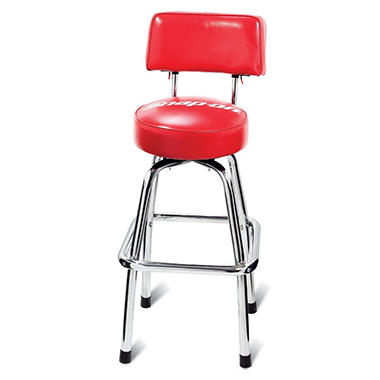 Snap-On Shop Stool w/Backrest