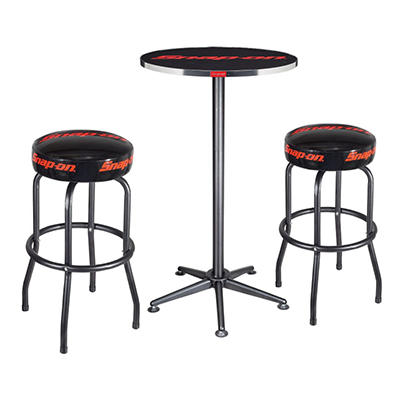 Table and Two Shop Stool Set