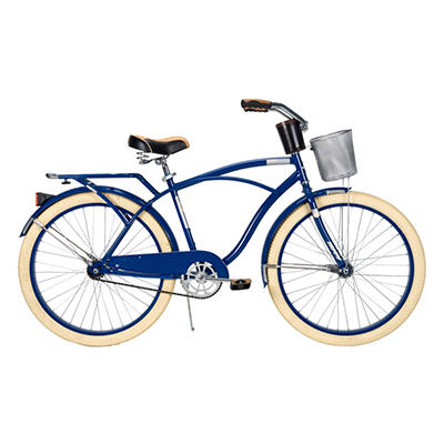 "Huffy 26"" Deluxe Cruiser Bike, Navy"