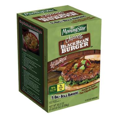 Morningstar Farms Chipotle Black Bean Burgers - 38.1 oz. - 9 ct.