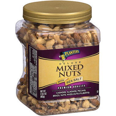 Planters Deluxe Mixed Nuts with Sea Salt - 34 oz.