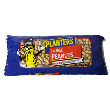 Planters® In-Shell Unsalted Peanuts - 5 lb. bag