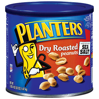 Planters Dry Roasted Peanuts - 52 oz.
