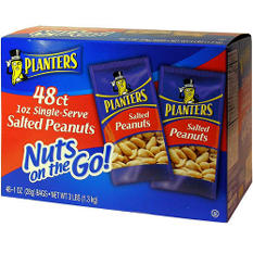 Planters® Salted Peanuts - 1 oz. (48ct.)