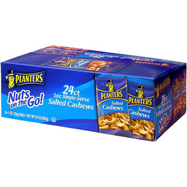 Planters Salted Cashews - 1 oz. bags (24 ct.)