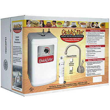 Instant Hot Water Combo Satin Nickel with Filter