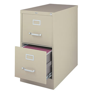 "Hirsh - 2-Drawer Commercial Vertical File Cabinet 26.5"" - Putty"