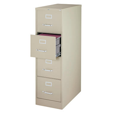 "Hirsh - 4-Drawer Letter File Cabinet 26.5"" - Putty"