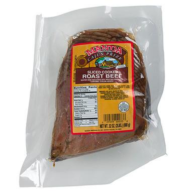 Manda Sliced Cooked Roast Beef - 2 lbs.