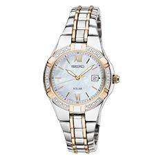 Seiko Ladies Diamond Two Tone Solar Watch