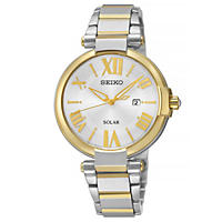 Seiko Ladies Solar Two-Tone Watch
