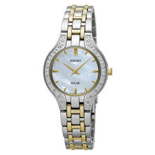 Seiko Women's Two-Tone Solar Diamond Stainless Steel Watch
