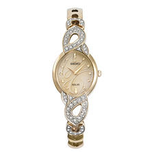 Seiko Ladies Solar Crystal Gold-Tone Watch