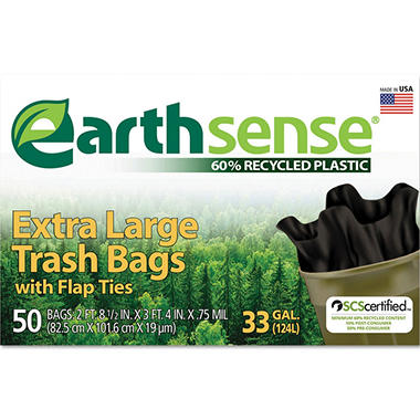 EarthSense - Recycled Can Liners - 33 gal - 50 ct.