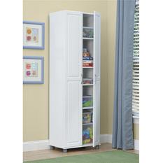 "SystemBuild 24"" Utility Storage Cabinet, White"