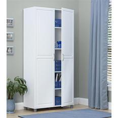 "SystemBuild 36"" Utility Storage Cabinet, White"