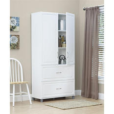 "SystemBuild 36"" Two-Drawer, Two-Door Cabinet, White"