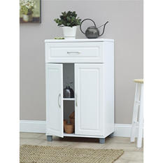 SystemBuild One-Drawer, Two-Door Cabinet, White
