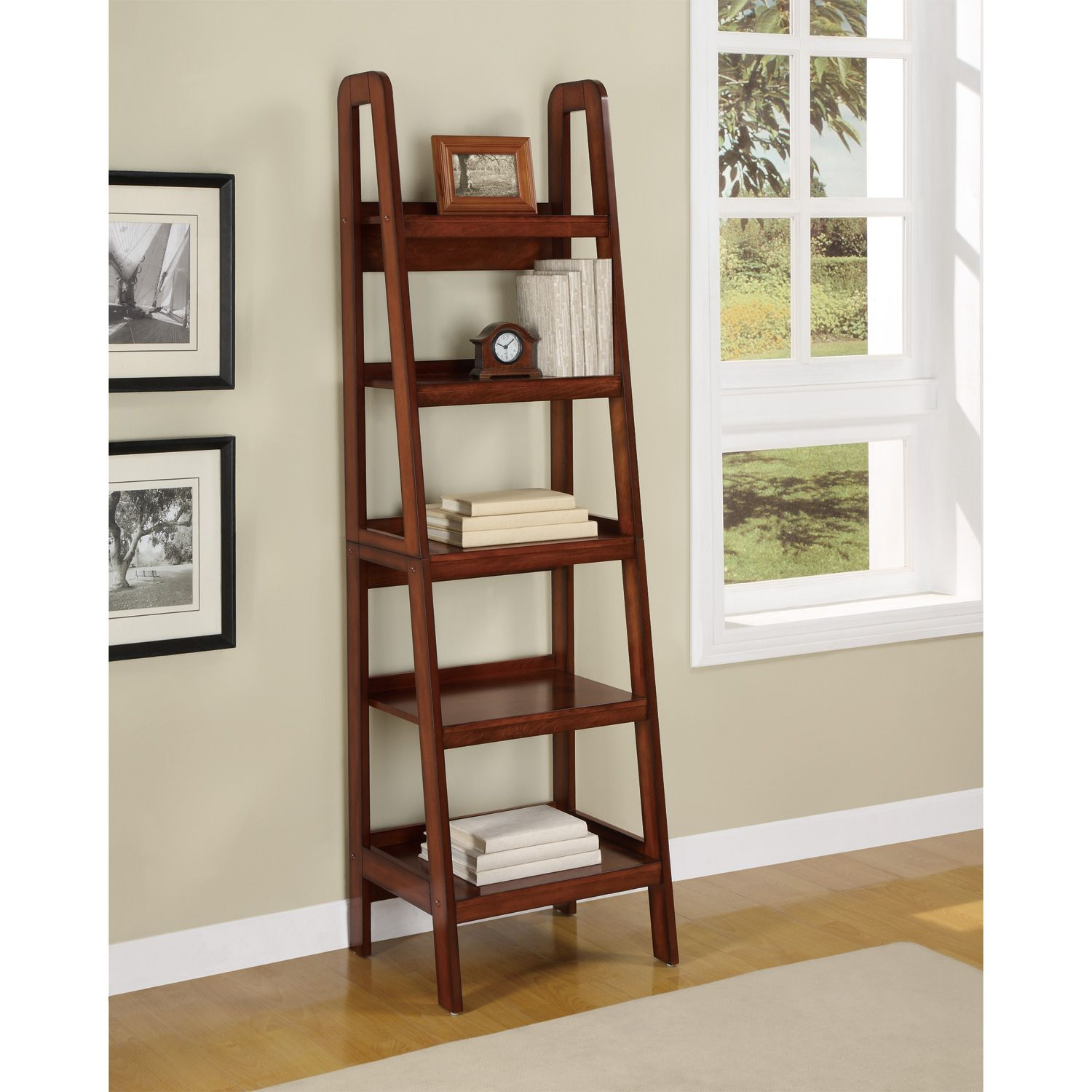 Details about Harlan Ladder Style Bookcase