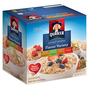 Quaker Instant Oatmeal, Variety Pack (52 ct.)