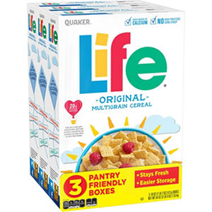 Quaker Life Cereal  (18 oz., 3 Boxes)