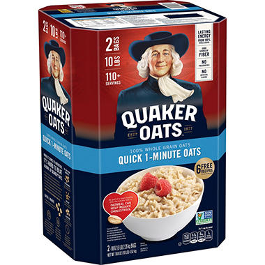 Quaker Oats� Quick 1 Minute Oatmeal - 2/5 lb.