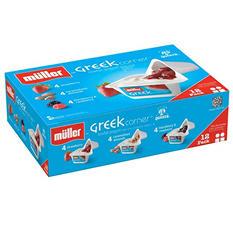 Muller Greek Corner Lowfat Yogurt Variety - 12 pk.