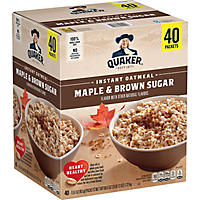 Quaker Instant Oatmeal, Maple Brown Sugar (40 ct.)