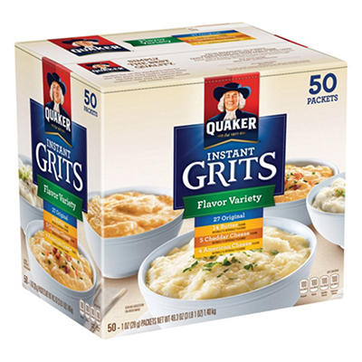Quaker® Instant Grits Variety - 50/1oz pouches