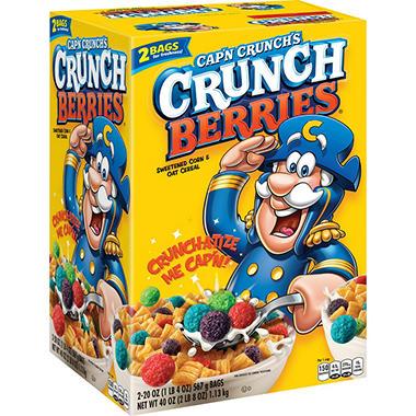Cap'n Crunch's Crunch Berries® Sweetened Corn & Oat Cereal - 2/20 oz.