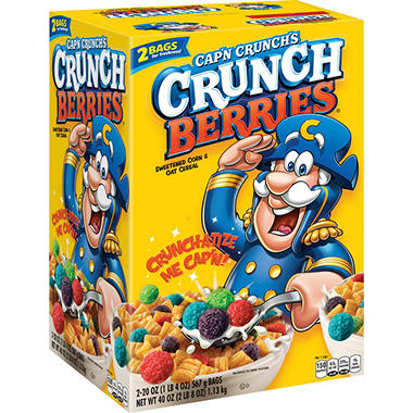 Cap'n Crunch's Crunch Berries� Sweetened Corn & Oat Cereal - 2/20 oz.