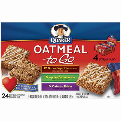 Quaker Oatmeal To Go - Variety Pack - 24 ct.