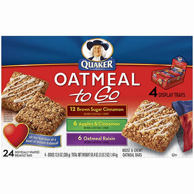 Quaker Oatmeal To Go, Variety Pack (24 ct.)