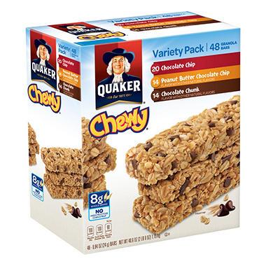 Quaker Chewy Granola Bars Variety Pack - 48 ct.