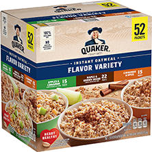 Quaker Instant Oatmeal Variety Pack (52 ct.)