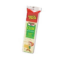 Club & Cheddar Cheese Sandwich Crackers - 12 pack