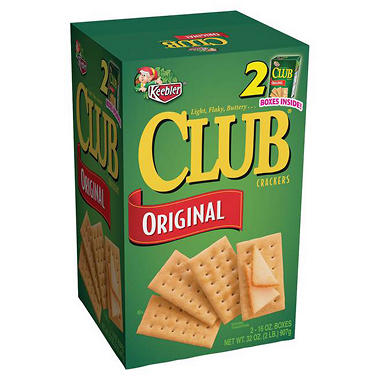 Keebler� Club� Crackers - 2/16 oz. boxes