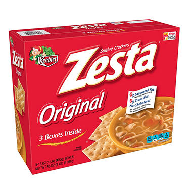 Keebler Zesta Saltines - 16 oz. box - 3 pk. - Sam's Club