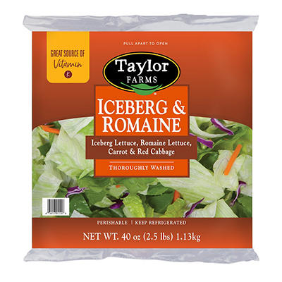 Taylor Farms Iceberg & Romaine Lettuce Blend (2.5 lb.)