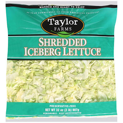 Taylor Farms Shredded Iceberg Lettuce (2 lb.)