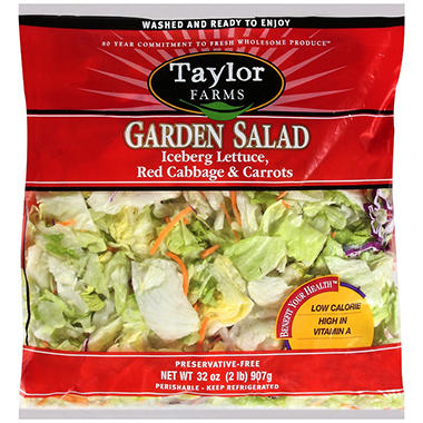 Taylor Farms Garden Salad - 2 lb.