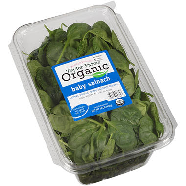 Taylor Farms Organic® Baby Spinach - 16 oz.