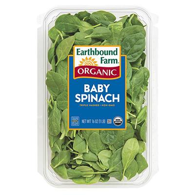 Taylor Farms Organic Baby Spinach (16 oz.)