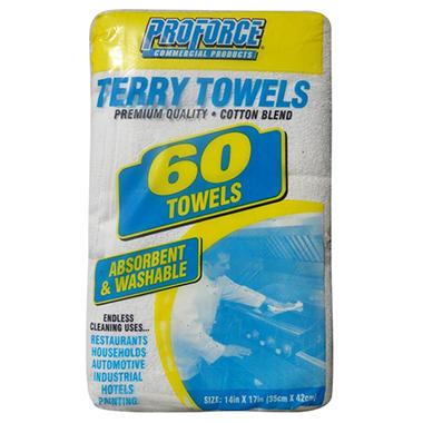 ProForce Terry Towels - Cotton Blend - 60 ct.